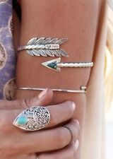 Silver Arrow Bracelet Upper Arm Cuff Armband Boho Urban Tribal LEAD FREE!!!!