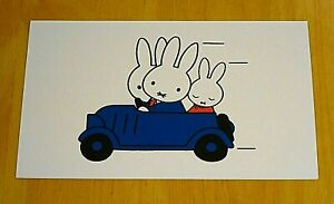 039-WITH-LOVE-FROM-MIFFY-039-POSTCARD-MIFFY-FATHER-amp-MOTHER-BUNNY-TAKE-A-DRIVE