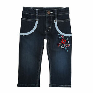 7c2cb12fc WRANGLER Cute All Around Baby Girl's Western Flowers Lace Blue Jeans ...