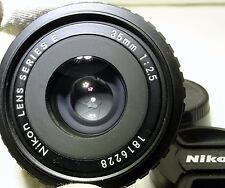 Nikon 35mm f2.5 Ai-s E series manual focus lens prime