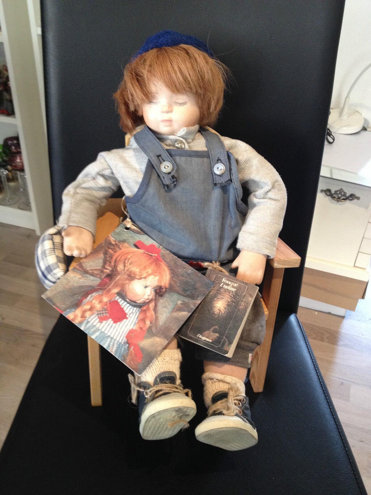 Renate Bender Puppe Mannilein 45 cm mit Zertifikat   Top Zustand  | Die Königin Der Qualität
