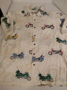Hawaiian-Aloha-Shirt-Wing-Riders-of-America-Motorcycles-Size-Large
