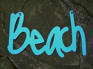 BEACH-Metal-Sign-Seaside-Tropical-Paradise-Ocean-Blue-Nautical-Home-Decor