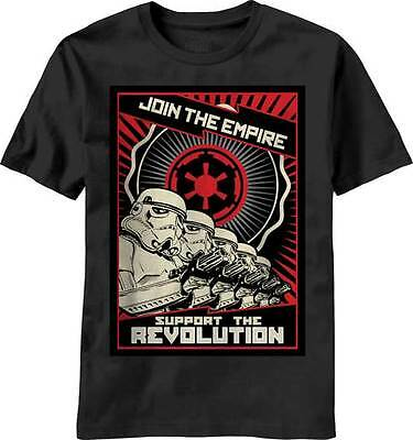 Star Wars Join The Empire Propaganda Poster Licensed Adult T-Shirt - Black