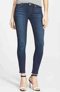 Women-039-s-Paige-Size-27-Verdugo-Blue-Mid-Rise-Skinny-Ankle-Jeans-Stretch-Lux-5013