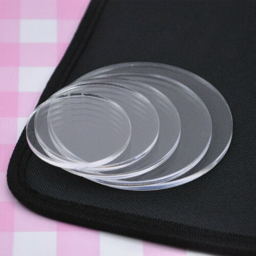 Acrylic Clear Round Circle Pressure Plate Clay Pottery Sculpture Tool Child DIY