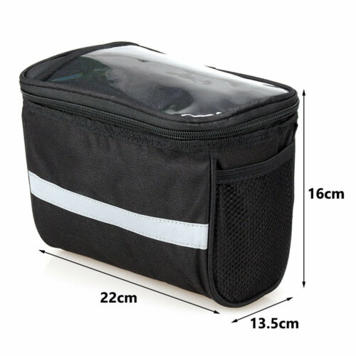Bicycle Handlebar Basket Bag Bike Reflective Front Pannier Tube Waterproof Hot