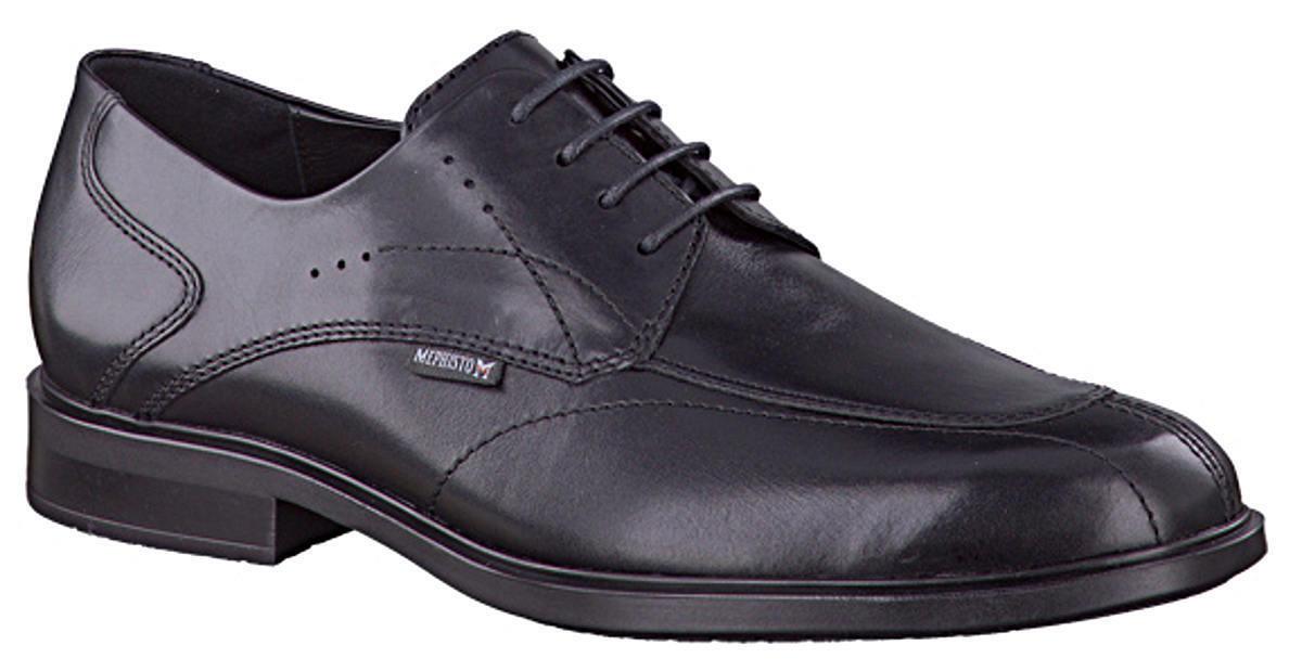 Para Hombre Formales Con Cordones Derby Zapato Mephisto Folkar Negro Uk Talla 12