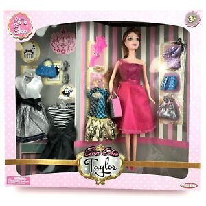New-Doll-Toys-Hunson-Soo-Chic-Taylor-Let-039-s-Shop-12-034-Doll-Playset-Accessories