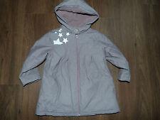 KIABY NKY - MANTEAU IMPERMEABLE fourré polaire zippé gris à capuche FILLE 4 ANS