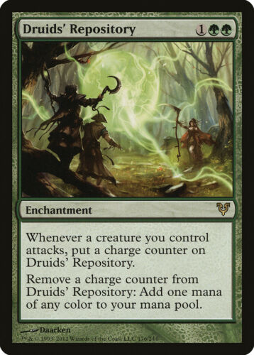 Druids/' Repository Avacyn Restored HEAVILY PLD Green Rare MAGIC CARD ABUGames