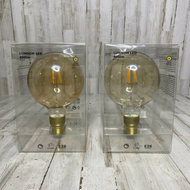 LUNNOM LED bulb E12 200 lumen dimmable chandelier brown clear glass
