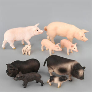 Simulation-Animal-Pig-Model-Toy-Figurine-Decor-Plastic-Animal-Model-Kids-Gift-iv