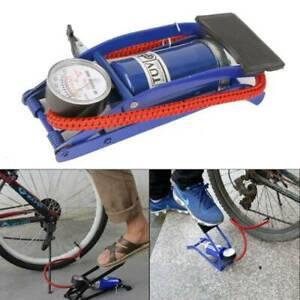 SINGLE BARREL CYLINDER AIR COMPRESS INFLATOR FOOT PUMP VAN BICYCLE BIKE TYRE  UK