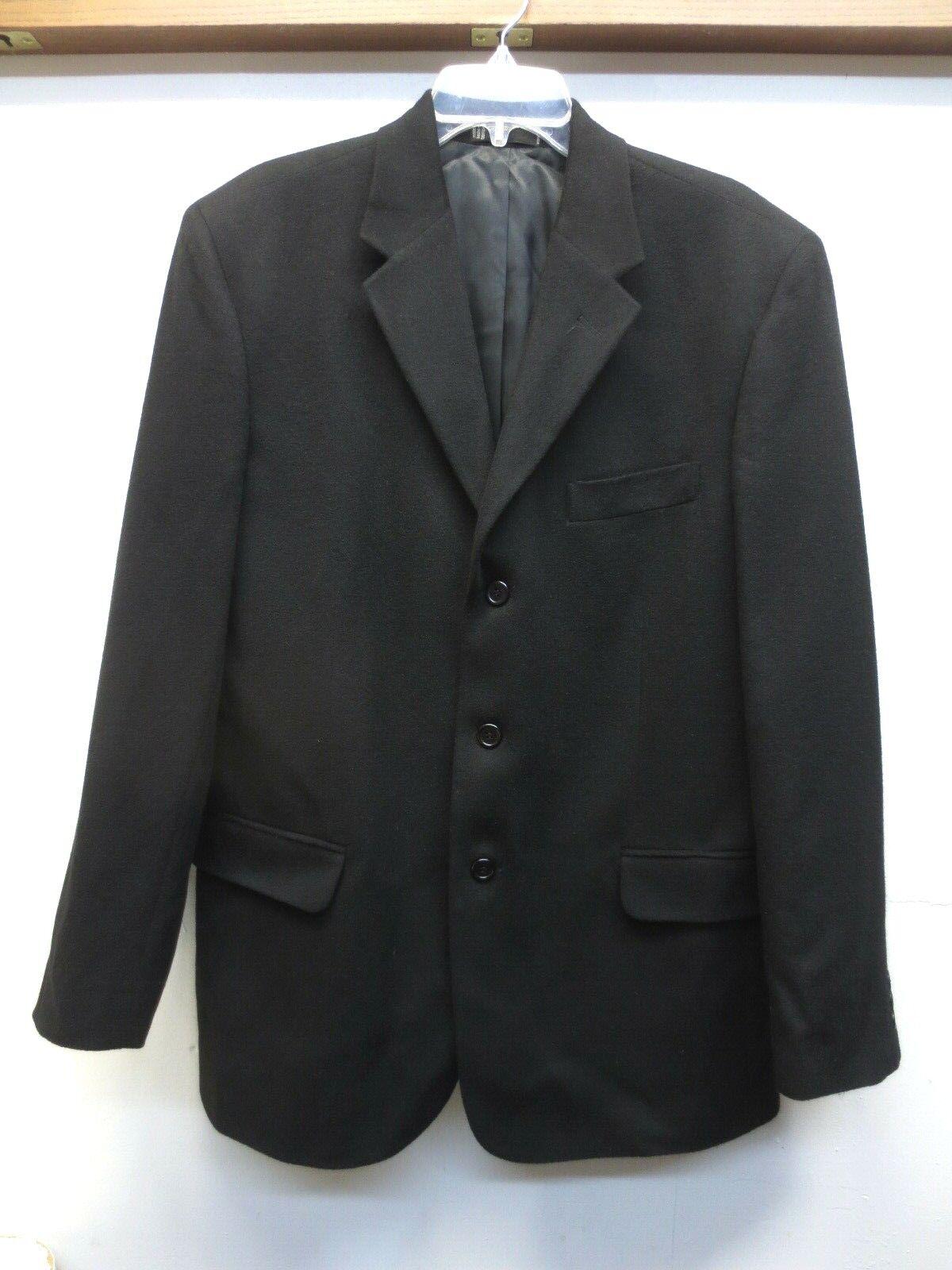 EUC Neiman Marcus Charcoal 100% Cashmere Sport Coat Blazer 3 Button 0 Vent 42R