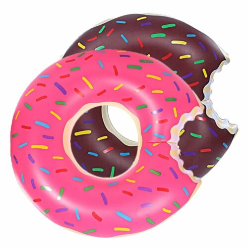 Pool Floats Inflatable Chocolate Donut Pool Float Swim Rings Single 120cm 1pcs