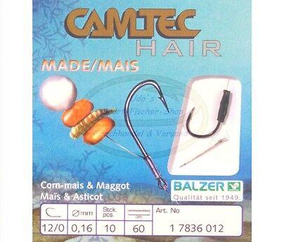 Balzer Camtec Hair Rig Mais /& Made Angelhaken Vorfachhaken mit Spies