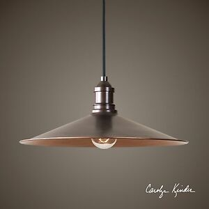 "NEW 14"" RICH ANTIQUE COPPER FINISH PENDANT LIGHT CEILING"