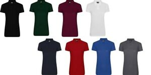 PRO-RTX-Ladies-Short-Sleeve-Polyester-Slim-Fit-Womens-Plain-Polo-T-Shirt-Top-New