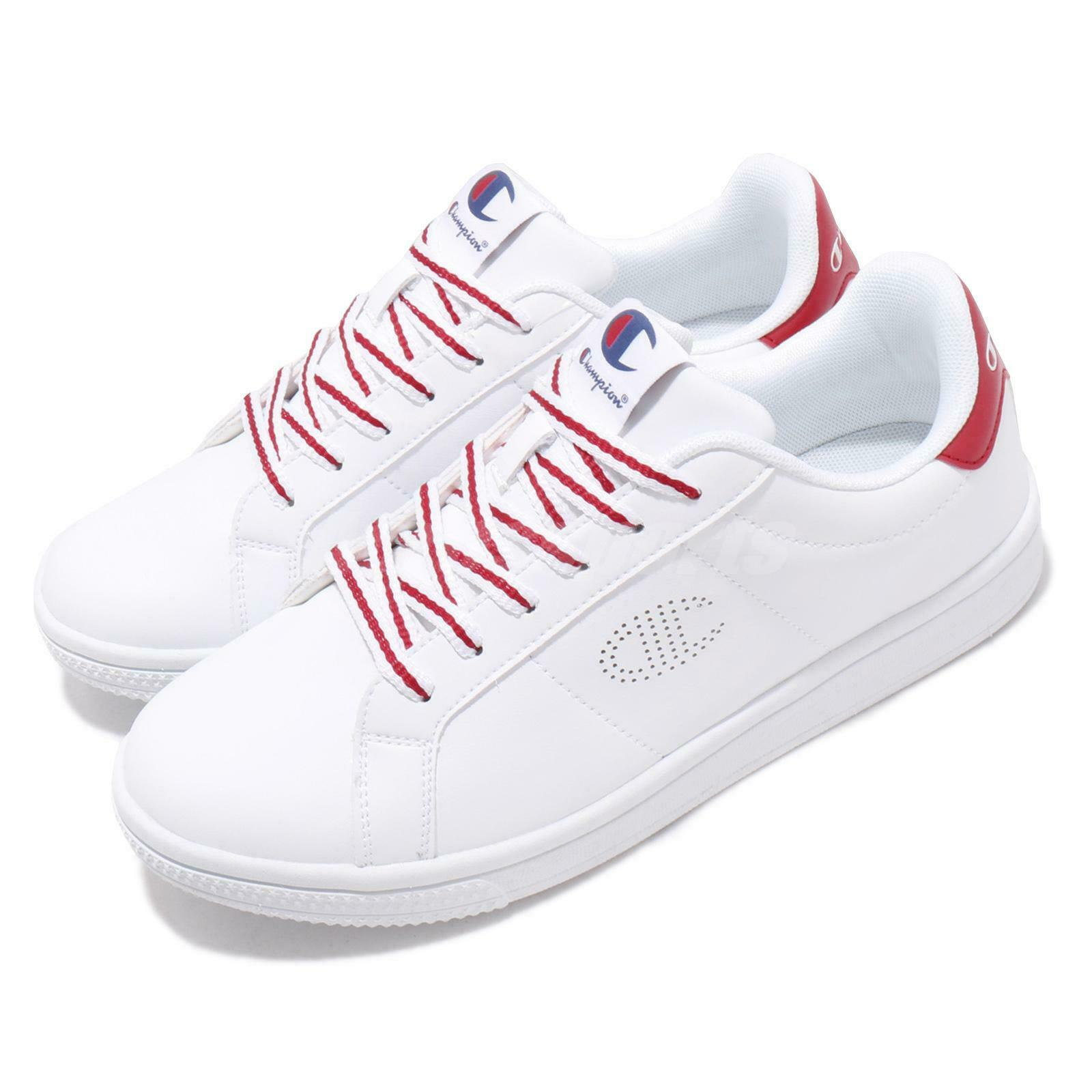 Champion CC Tennis II blanco rojo Men Classic Casual zapatos zapatillas 84-1210104