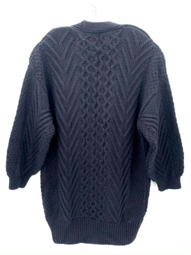 Topshop Womens Navy Blue Long Cable Knit Oversized Ultra Soft Cardigan Size 8