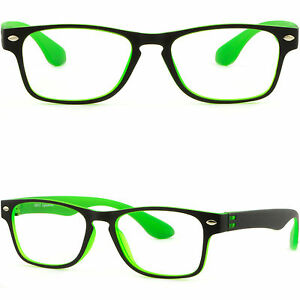 acefeb957ce1 Image is loading Light-Rectangle-Men-Women-Plastic-Frame-Glasses-Metallic-