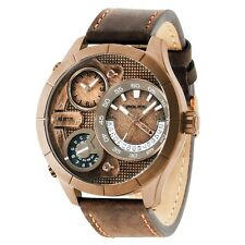 Police 14638XSQR-32 Mens Bushmaster Brown Leather Strap Watch RRP £199