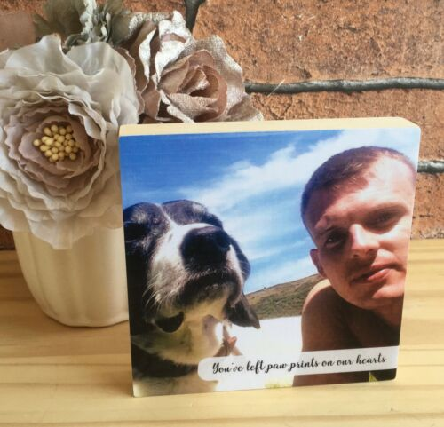 Photoblock personalizado hecho a mano para Mascota Perro Gato Cachorro Gatito Regalo único recuerdo