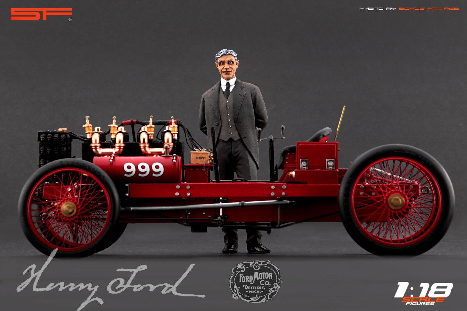 1 1 1 18 Henry Ford VERY RARE    figurine NO CARS    for diecast collectors a6e76d