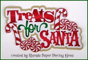 I BELIEVE in SANTA TITLE paper piecing  3D diecut for premade scrapbook page album or card by Rhonda