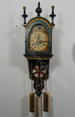 Folklore Dutch Hindeloopen Painted Schippertje Wall Clock