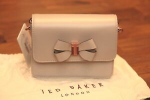 9aa1c71774 Ted Baker CALLIIH Bow detail leather cross body bag Taupe BNWT ...