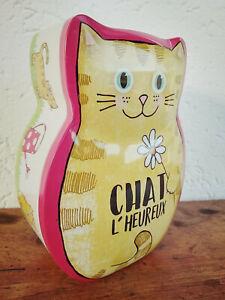 Jolie-tirelire-chat-en-metal-Chat-l-039-heureux-15-5x11-5cm-cadeau-deco-maison