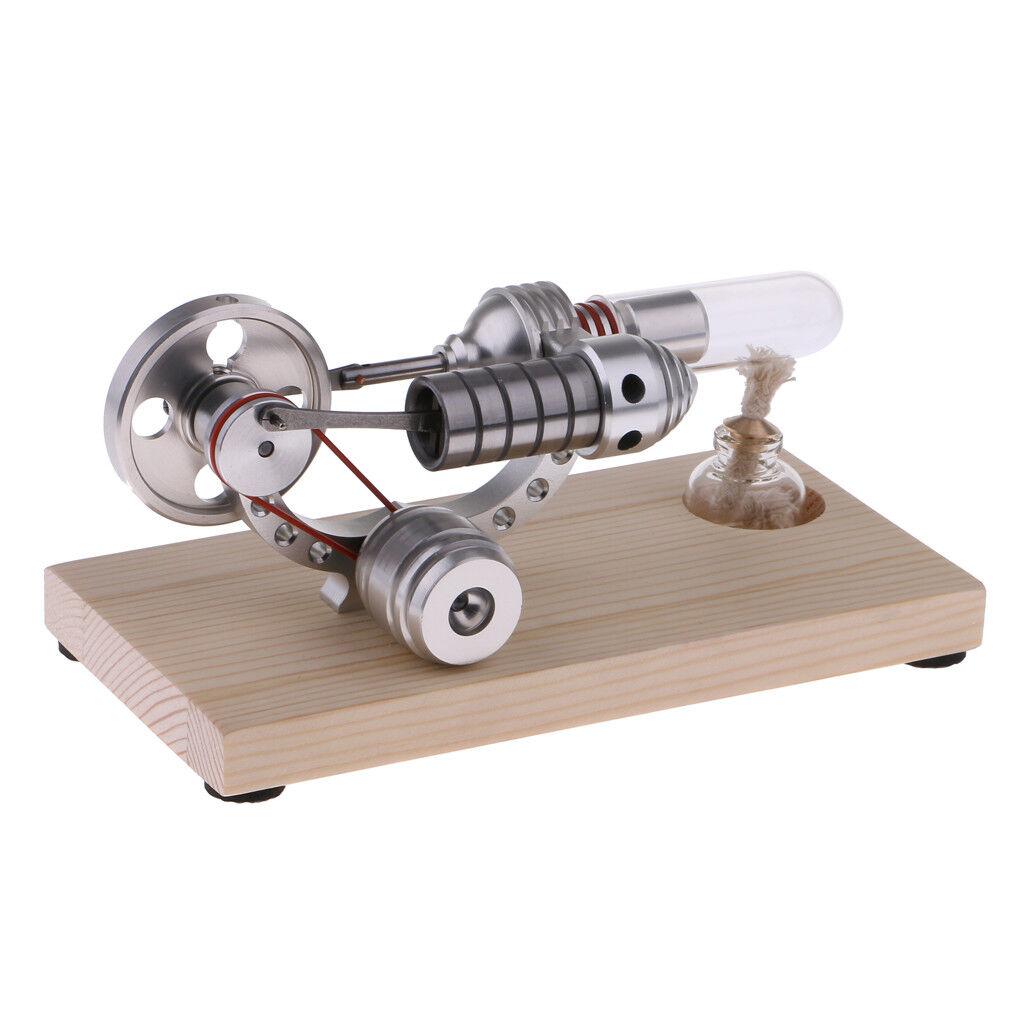Base in legno aria calda motore stirling modello GENERATORE MOTORE Giocattolo Educativo