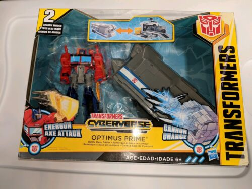 Optimus Prime and Battle Base Trailer Transformers Energon Axe Attack Cyberverse