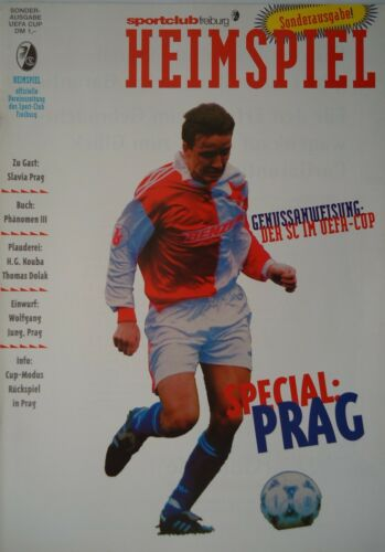 Slavia Prag Programm UEFA Cup 1995//96 SC Freiburg