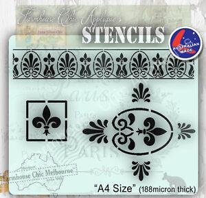Mylar-Furniture-Stencil-French-Vintage-Stencil-Artist-Shabby-Chic-Stencil