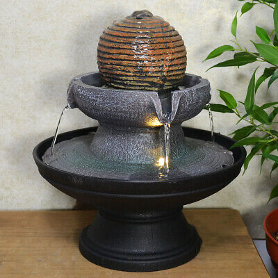 Stone Ball Round Water Fountain With Light Perfect Indoor Water Feature Ebay