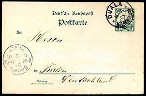 GERMANY-CAMEROON-TO-BERLIN-DUALA-Cancel-on-Postal-Stationery-1901-VF