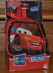Disney-Pixar-Cars-Kids-Cards-Game-Pack-and-Bag-2-Games-War-and-Crazy-Eights-NEW