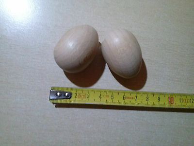 Romantic 10 Finte Uova In Legno Per Galline O Nidi Di Volatili Misura 25x40 Mm A Great Variety Of Goods Backyard Poultry Supplies