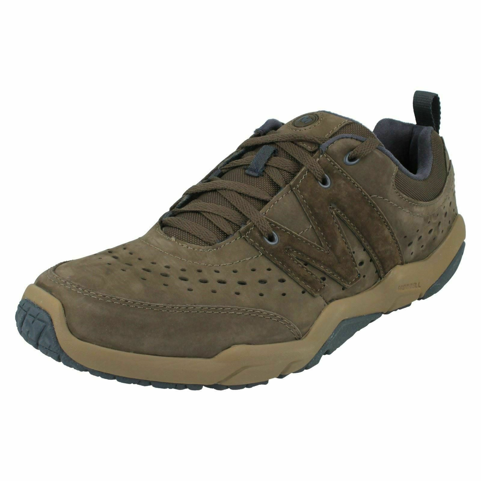 J553251- Mens Merrell Lace Up Trainers- Skylark Leather - Coffee UK7 EU41 US7.5