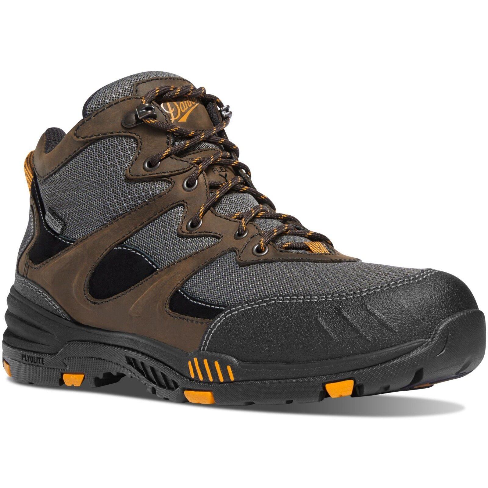 Danner Men's 12240 Springfield Brown orange Work 4.5  Waterproof EH Safety shoes