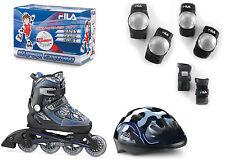 Fila X-One Combo Set Boy Jungen Inline Skates mit Schutzausrüstung Gr. L (35-38)