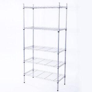 5 Level Garage Wire Metal Shelving Adjustable Steel HeavyDuty Storage Shelf