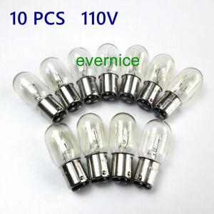 10-Poussoir-de-type-Clair-Ampoules-pour-Singer-autre-maison-machine-a-coudre-15-W-110-V