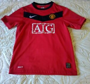 promo code ce63b 99a0a Details about MANCHESTER UNITED FOOTBALL SHIRT BOYS/GIRLS AGE 10/12 M  140/152CMS