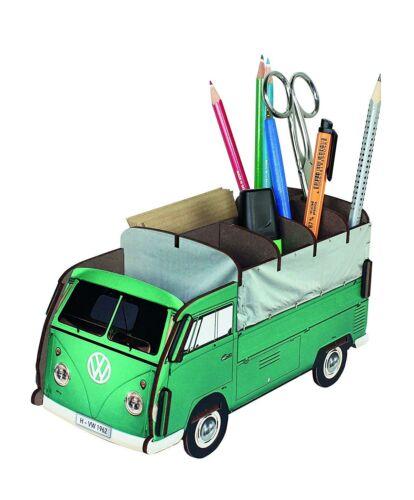 Werkhaus - Stiftebox VW T1 Bus Bulli Pritsche Grün WE2032 Stifte- Halter Becher