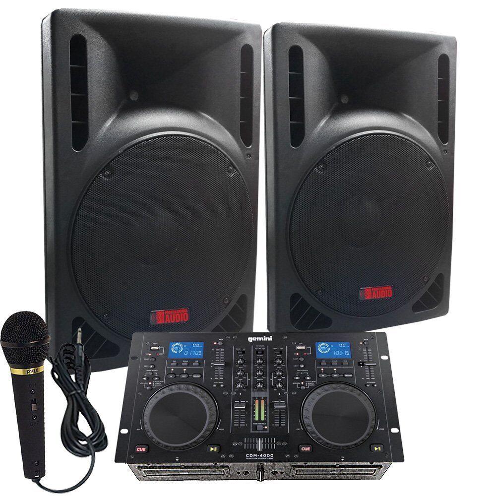 Starter Dj System - 1600 WATTS - Verbinden Sie Ihren Laptop, iPod, USB, MP3's oder Cd's