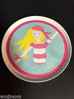 Pottery Barn Kids Mermaid Plate Kitchen Table Pirate Sea Ocean Beach Easter